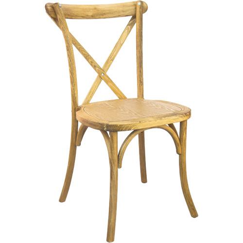 Advantage Hand Scraped Natural X-Back Chair [X-back-NAT-EC]