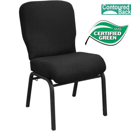 Advantage Signature Elite Black Church Chair [PCRCB-108] - 20 in. Wide