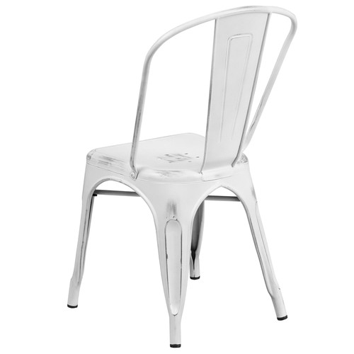 Groovy Advantage Distressed White Tolix Chair Et 3534 Wh Gg Unemploymentrelief Wooden Chair Designs For Living Room Unemploymentrelieforg