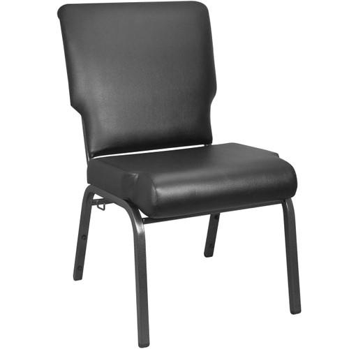 Advantage Black Vinyl Church Chair 20.5 in. Wide [PCHT-VINYL-108]