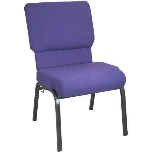 Advantage Eggplant Church Chair 20.5 in. Wide [PCHT-115]