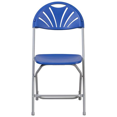 Admirable Advantage Blue Fan Back Plastic Folding Chair Le L 4 Bl Gg Frankydiablos Diy Chair Ideas Frankydiabloscom