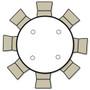 Advantage 5 ft. Round Adjustable Plastic Folding Table [FTD60R-ADJ] Seats 8 adults