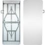 Advantage 8 ft. (30x96) Bifold Rectangular White Plastic Folding Table [ADV-3096LZ-BIFOLD]