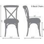 Advantage Natural With White Grain X-Back Chair [X-back-NWG-EC]