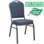 Advantage Navy-patterned Premium Banquet Chair - Crown Back [CBMW-201]