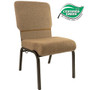 Advantage Mixed Tan / Beige Church Chair 20.5 in. Wide [PCHT-105]