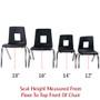 Advantage Black Student Stack School Chair - 12-inch [ADV-SSC-12BLK]
