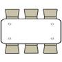 Advantage 6 ft. (30x72) Wood Folding Banquet Table - Rectangular [FTPW-3072]