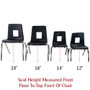 Advantage Black Student Stack School Chair - 14-inch [ADV-SSC-14BLK]