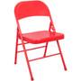 Advantage Red Metal Folding Chair [EDPI903M-RED]