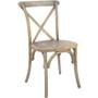 Advantage Medium Natural With White Grain X-Back Chair [X-back-MOWG-EC]