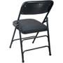 Advantage Black Padded Folding Chair - Black 1-in Fabric Seat [DPI903F-BlkBlk]