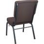 Advantage 20.5 in. Mahogany Church Chair [PCCF-119]
