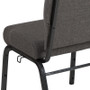Advantage 20.5 in. Charcoal Gray Molded Foam Church Chair  [PCCF-111]