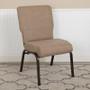 Advantage 20.5 in. Mixed Tan Molded Foam Church Chair [PCCF-105] **** CLOSEOUT****