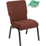Advantage 20.5 in. Cinnamon Molded Foam Church Chair [PCCF-107]