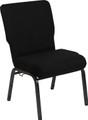Advantage 20.5 in. Black Molded Foam Church Chair [PCCF-108]