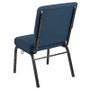 Advantage 20.5 in. Blue Basket Weave Molded Foam Church Chair [PCCF-109]