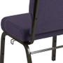 Advantage 20.5 in. Royal Purple Molded Foam Church Chair [PCCF-110]