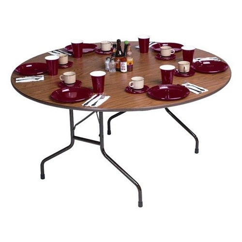 correll cf48px 4 ft round folding tables for sale at advantage church chairs. Black Bedroom Furniture Sets. Home Design Ideas