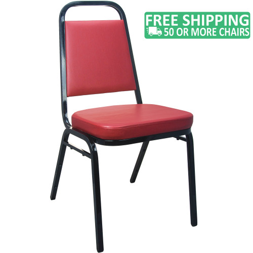 Stackable Chairs Burgundy Vinyl Banquet Chairs For Sale