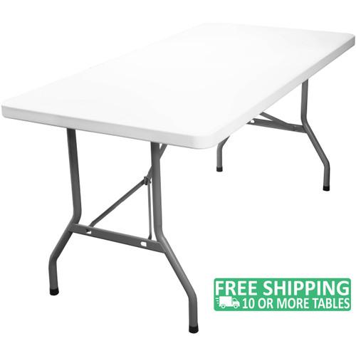 8 Ft Lightweight Plastic Folding Table Adv3096 White