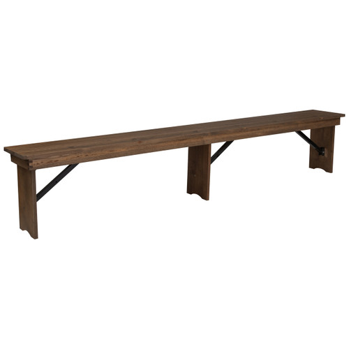 Farmhouse Table Bench 12x96 Barn Wood Brown Wooden