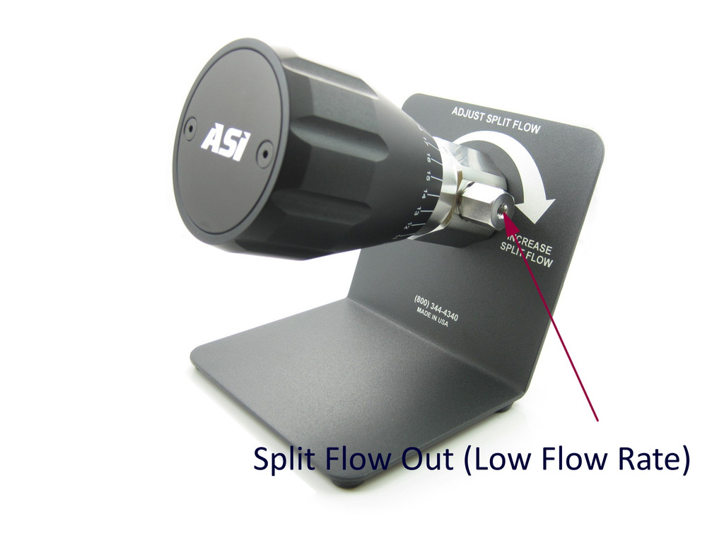 5:1 to 100:1 Split Ratio, Analytical Post-Column Adjustable Flow Splitter
