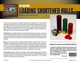 Brochure: Loading Shortened Hulls