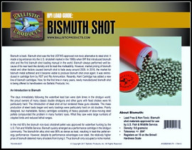 BP Brochure:  Bismuth Shot Reloading