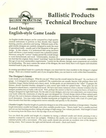 BP Brochure: English Style Game Loads