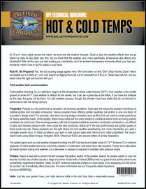 BP Brochure: Hot & Cold Weather