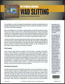 BP Brochure: Wad Slitting Info