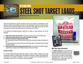 BP Brochure: Intro to Steel Target Loads