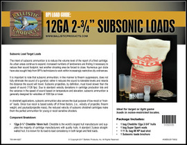 BP Brochure: Subsonic Loads