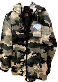 Merino Wool Camo Jackets _ Green or Gray_IN STOCK