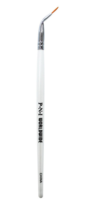 #2 Angled Nail Art Brush on wooden handle, A brush that can easily make fine outlines while in a more upright position.