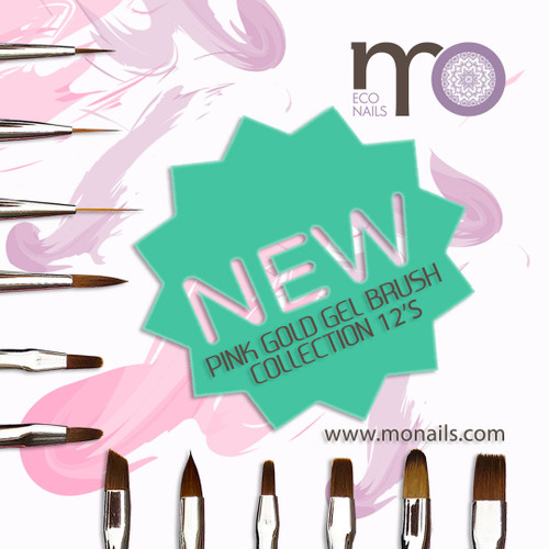 MO Pink Gold Gel Brush Collection 12's
