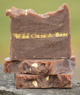 Wild Oats & Beer Goat Milk Soap Slice
