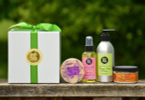Create Your Own Gift Set #7 - 1 Hand Crafted Goats Milk Body Lotion 7.5 oz. - 1 Hand Crafted Goats Milk Hand and Body Cream 4.25 oz. - 1 Conditioning Body Spray 4.25 oz. - 1 Hand Crafted Goats Milk Soap