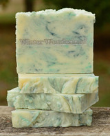 Winter Wonderland Goat Milk Soap Slice