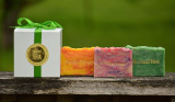 Create Your Own Gift Set #1 - 3 Handcrafted Goats Milk Soap Slices