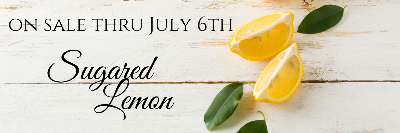 Sugared Lemon fragrance is back in sotck