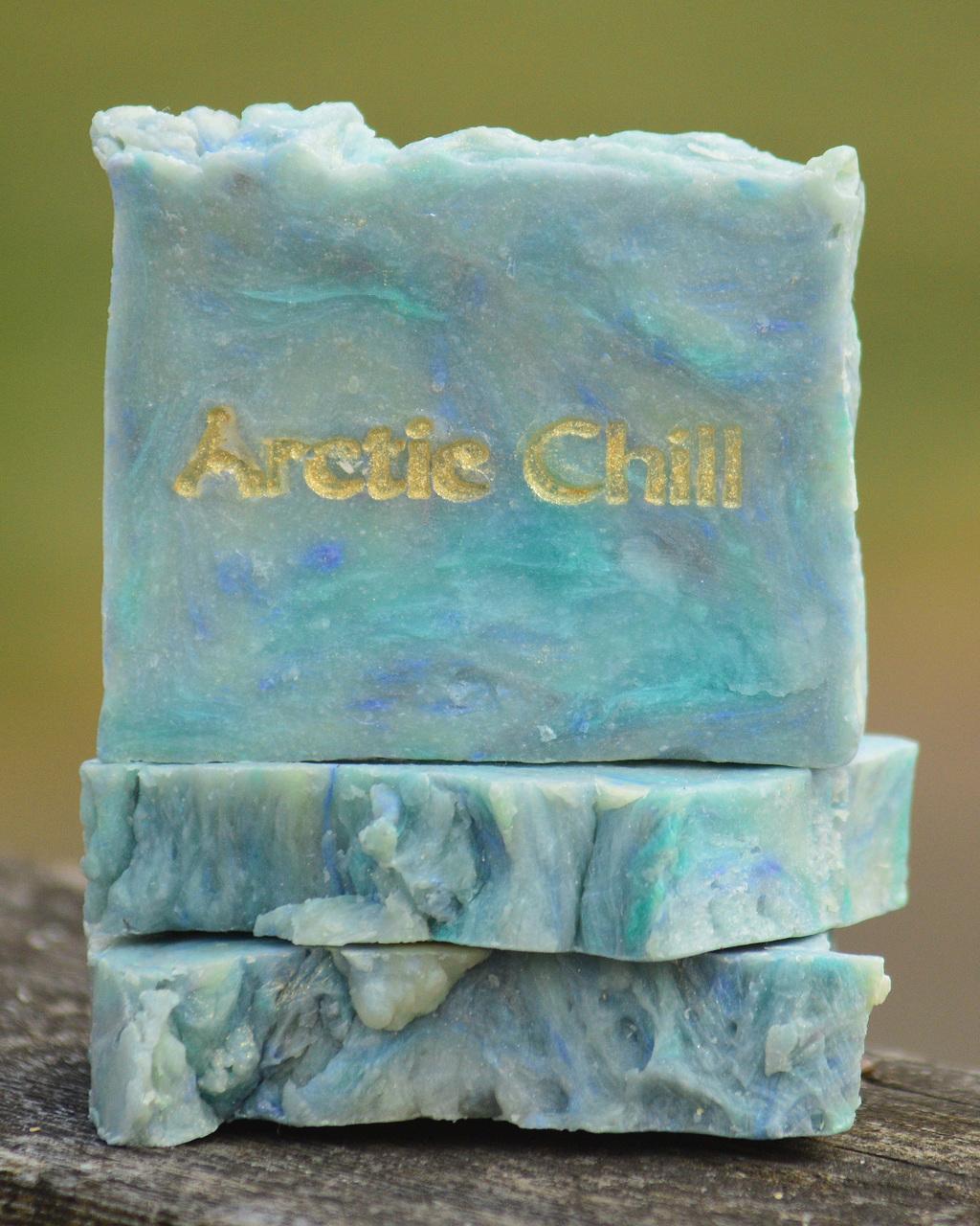Arctic Chill Goat Milk Soap Slice