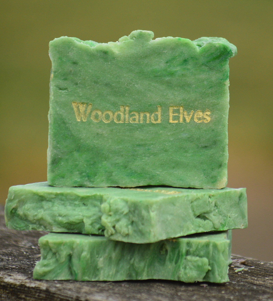 Woodland Elves Goat Milk Soap Slice