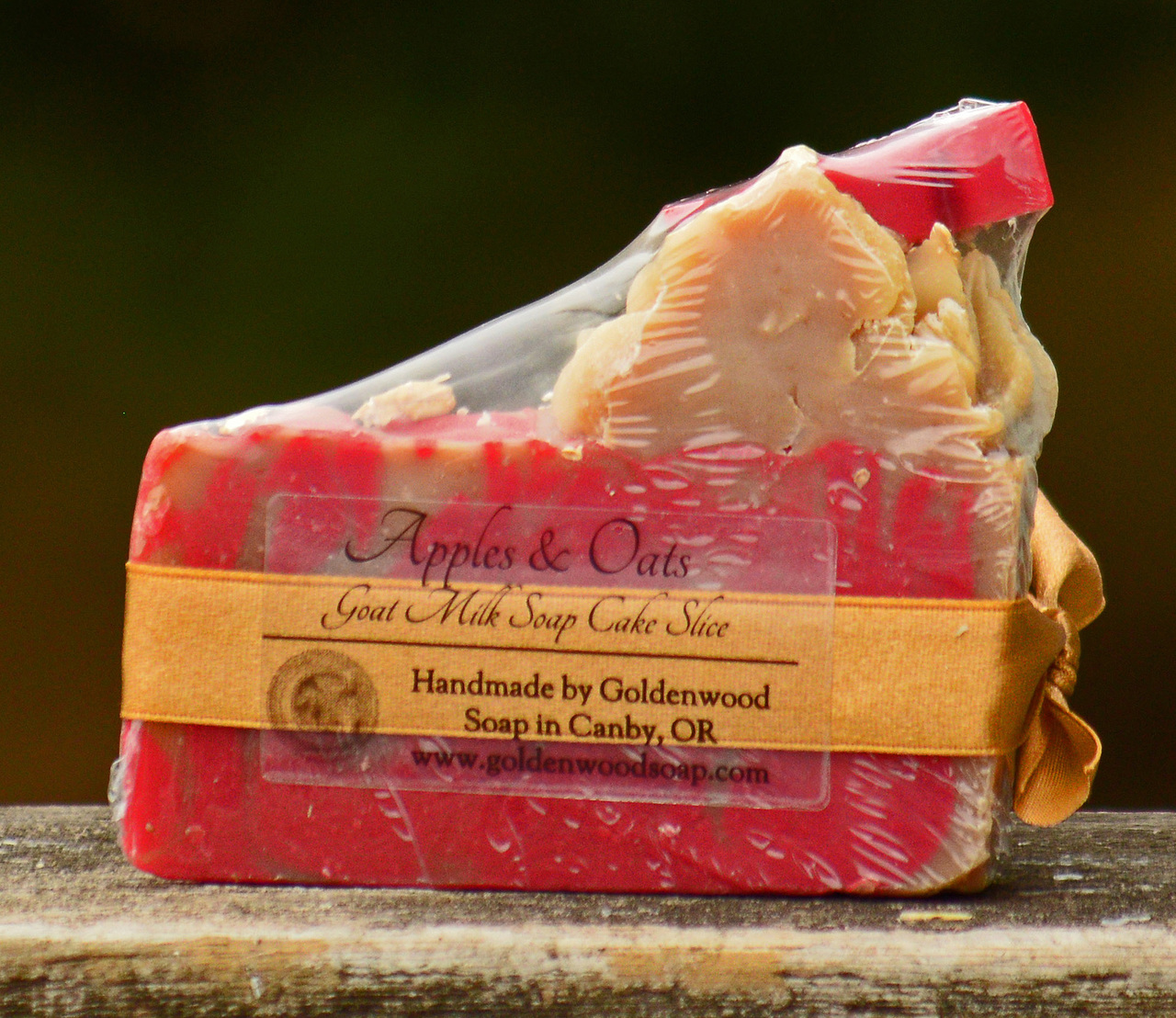 Apples & Oats - Goat Milk Soap Cake Slice - Avg weight 6.3oz per bar