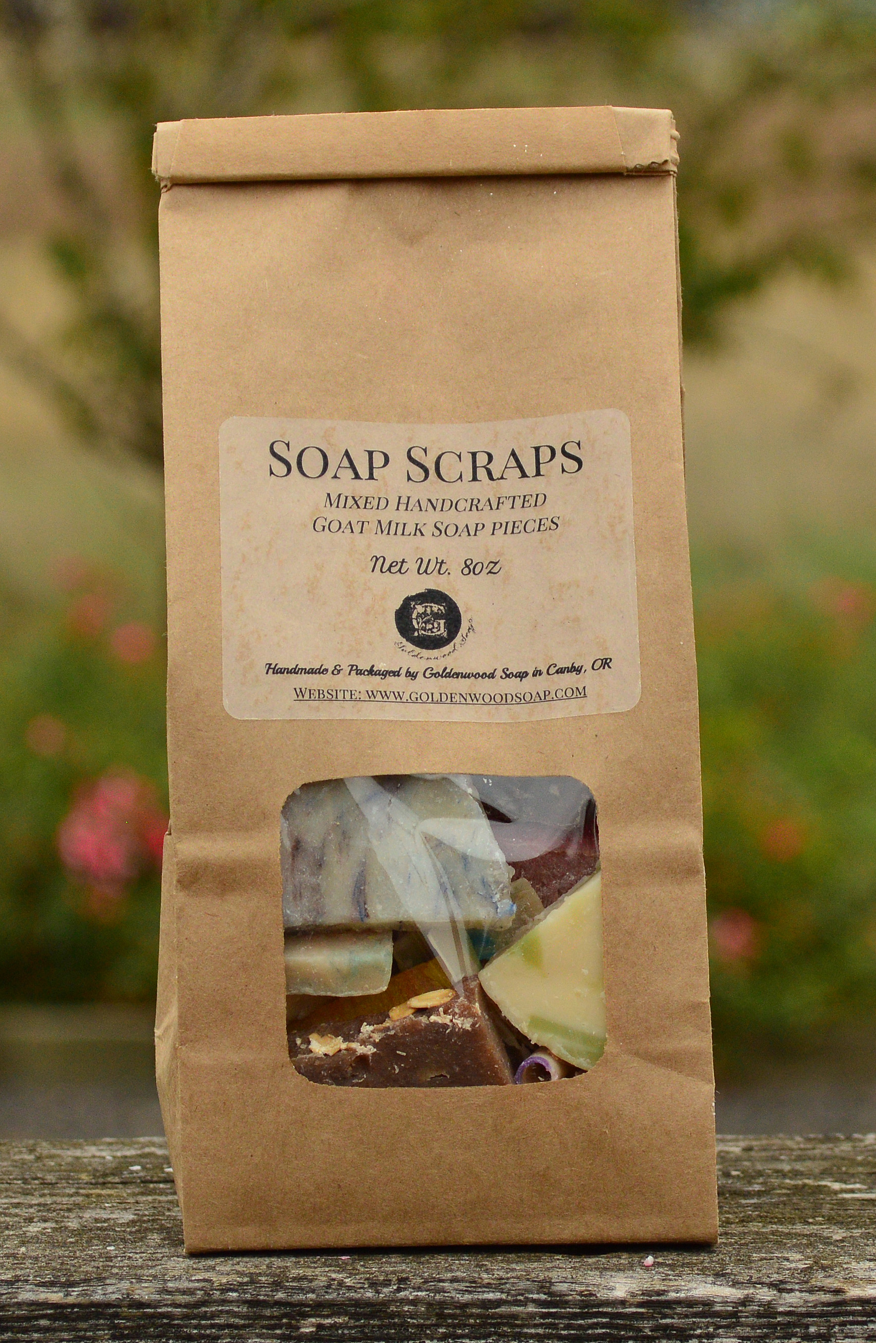1/2lb Bag of Soap Scraps -  An assortment of different fragrances in each bag from our Classic & Soap Slice line.