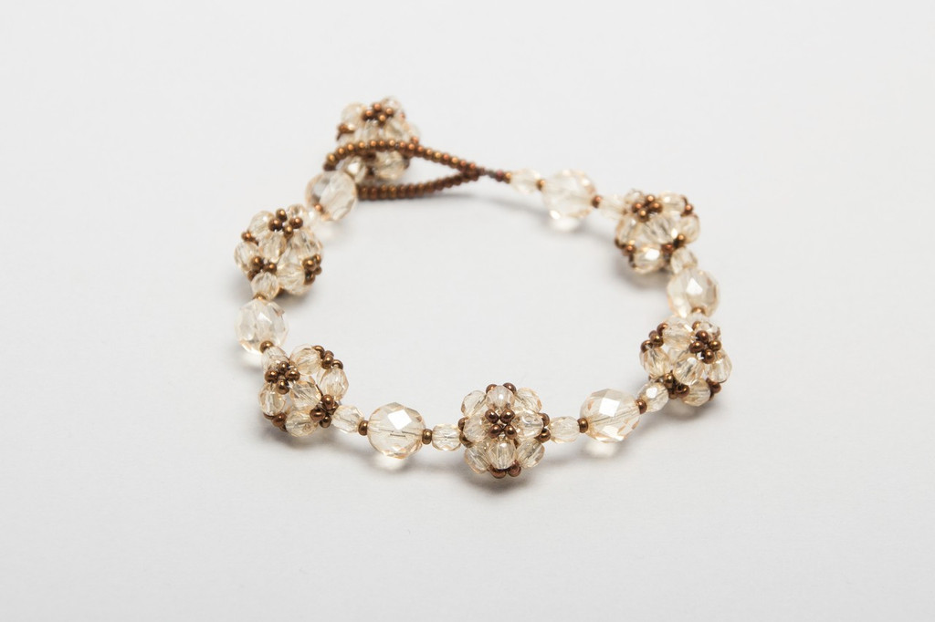 knitted crystal bracelet