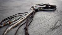 multi-strap leather cord